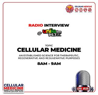 Radio Interview @ Unique fm 95.7 on Cellular Medicine